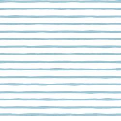 Artisan Stripe in Bluebell on White