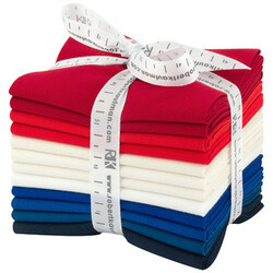 Kona Solid Fat Quarter Bundle in Patriotic