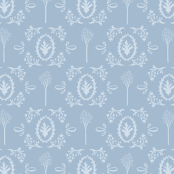 Woodland Toile in Winter Blue