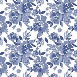 Peony Floral in Indigo