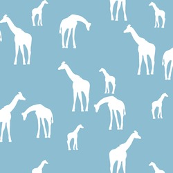 Giraffe Silhouette in Breeze