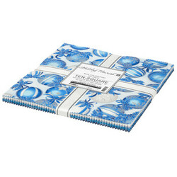 """Holiday Flourish 15 10"""" Square Pack in Blue Colorstory"""