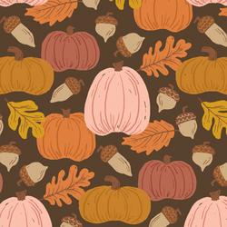 Large Autumn Harvest in Pumpkin Spice