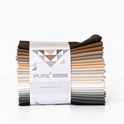 Pure Solids Fat Quarter Bundle in Hibernating