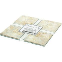 "Morning Mist Artisan Batiks 10"" Square Pack"