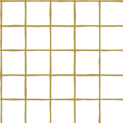 Windowpane in Gold on White