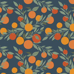 Little Tangerines in Navy