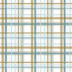 Christmas Plaid in Ice Blue