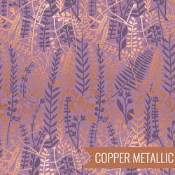 Floral Tapis in Metallic Heather