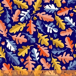 Oak Leaf in Navy