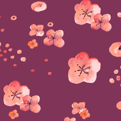 Cherry Blossoms in Maroon
