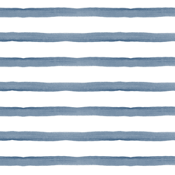 Bretagne Stripe in Dark French Blue