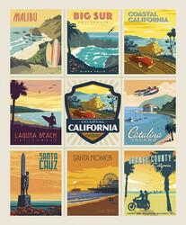 Poster Panel in California Beaches
