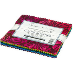 Artisan Batiks Charm Squares in Welcome to Paradise