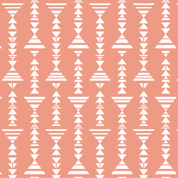 Little Tribal Stripe in Grapefruit