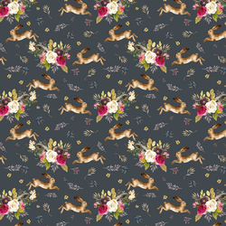Small Autumn Bunnies in Steel Grey