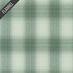 Mammoth Faded Check Flannel in Sage