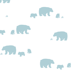 Bear Silhouette in Powder Blue