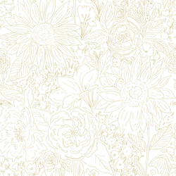 Paperie in Chamomile on White
