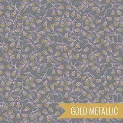 Enchanted Flowers in Grey Metallic