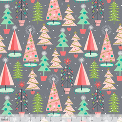 Christmas Spruces in Grey
