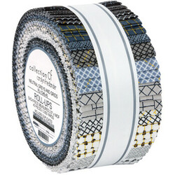 """Collection CF 2.5"""" Strip Roll in Neutral Grays and Grids"""