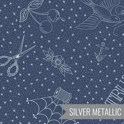 Draw in Indigo Metallic