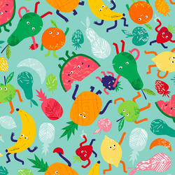 Fruity Friends Scatter in Blue