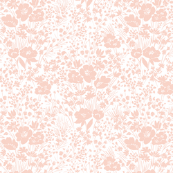 Prairie Silhouette in Wildflower Pink on White
