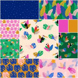 Tropical Jammin Fat Quarter Bundle
