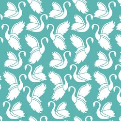 Swan Silhouette in Seafoam