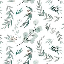 Falling Botanics in White