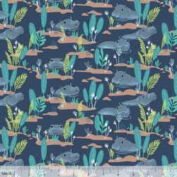 River Hippos in Navy