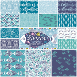 Riviera Fat Quarter Bundle in Mediterranean