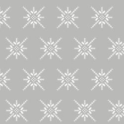 Snowflake Stitch in Pebble