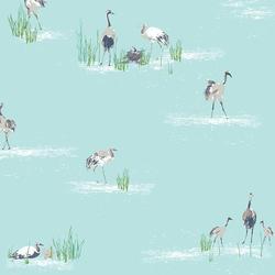 Wandering Cranes in Sky