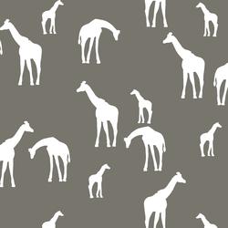 Giraffe Silhouette in Greige