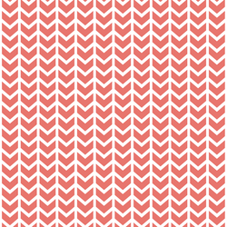 Broken Chevron in Living Coral