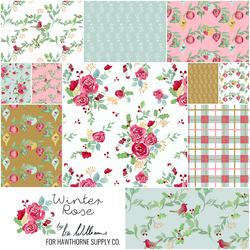 Winter Rose Fat Quarter Bundle