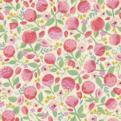 Floral in Cream
