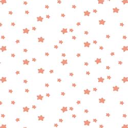 Star Light in Grapefruit on White