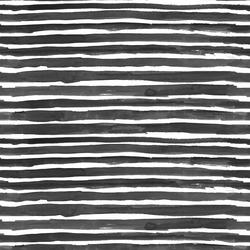 Watercolor Wash Stripe in Black