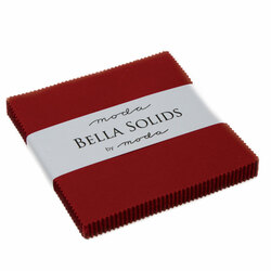 Bella Solids Charm Pack in Country Red