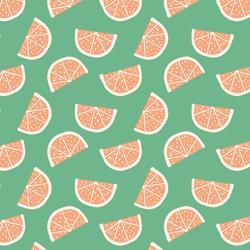 Tangerines in Teal