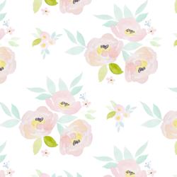 Blush Roses in Garden