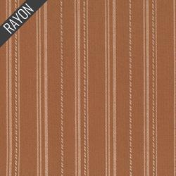 Rayon Twill Yarn Dye in Rust