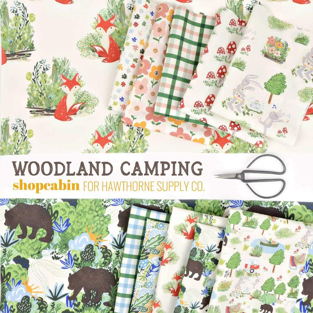 Woodland Camping Poster Image