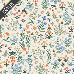 Menagerie Garden Rayon in Cream