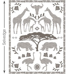 Zambezi Quilt Panel in Stone