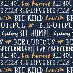 Bee You in Deep Indigo